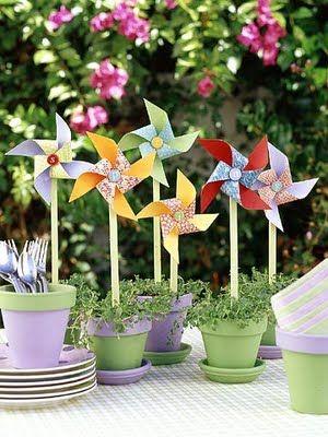 pinwheel+centerpiece+ideas