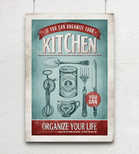 retro kitchen art vintage cutlery quote print blue kitchen decor retro kitchen decor retro on kitchen decor paintings prints id=19962