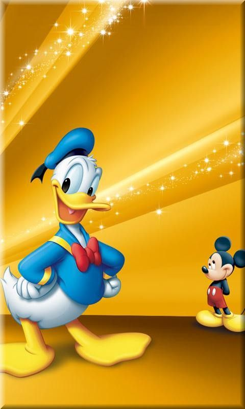 Disney Duck And Mouse Mobile Phone Wallpapers 50s