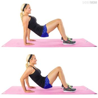 Image result for chest dips on floor
