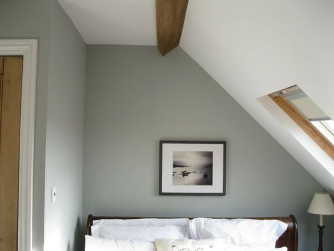 Bedrooms Farrow And Ball Light Blue No 22 Gray White Bed
