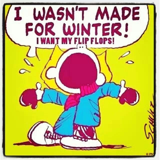 I Wasnt Made For Winter I Want My Flip Flops Peanuts