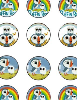 FREE Puffin Rock Birthday Party Cupcake Toppers Banner