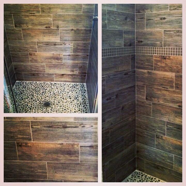 Cool Idea Hardwood Look Ceramic Tile For Shower Walls