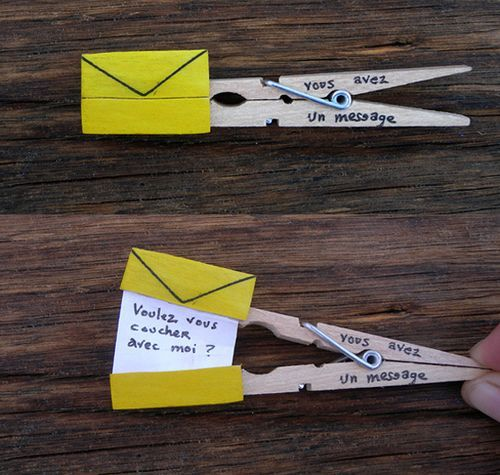 a cute peg message | Pen Pals | Pinterest | Pictures of ...