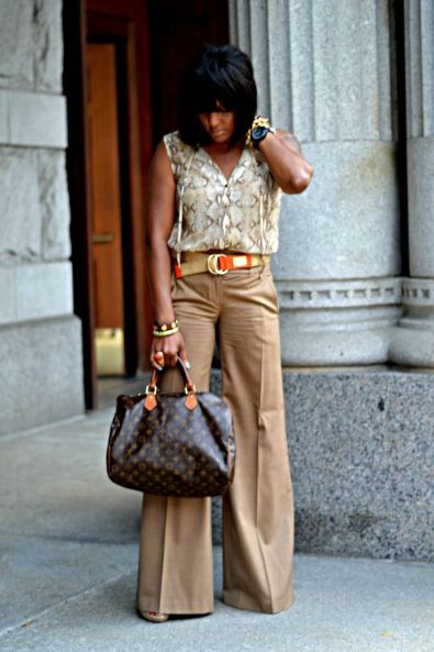 Love the wide leg pants!: