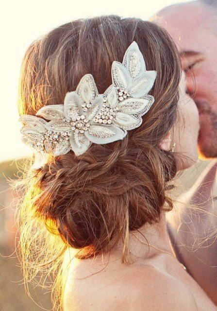 Messy elegant Bohemian updo  Wedding Styles Pinterest