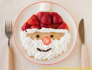 make Santa Claus pancakes on Christmas morning: