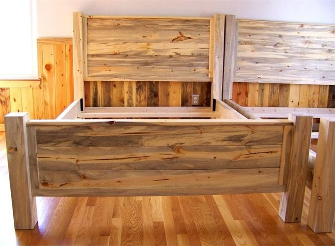 Beetle Kill Pine Bed Blue Stain Headboard Dreaming Of