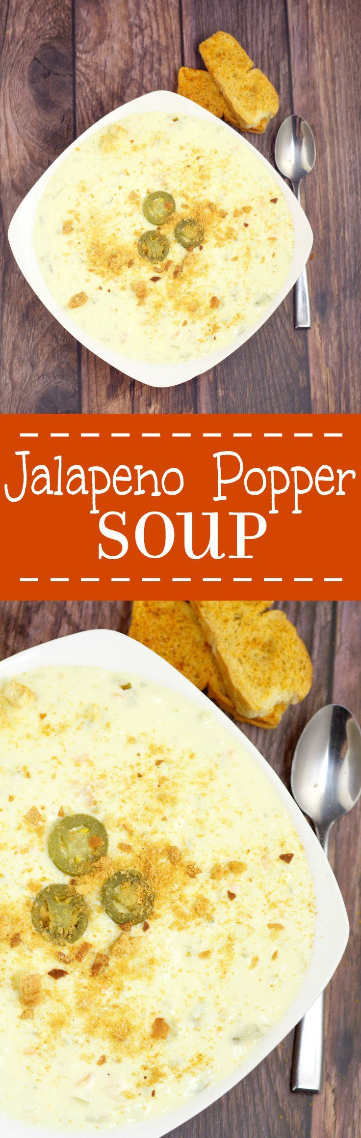 Creamy and warm with a kick of spicy, this Jalapeno Popper Soup recipe makes eating appetizers for dinner totally okay! Tastes