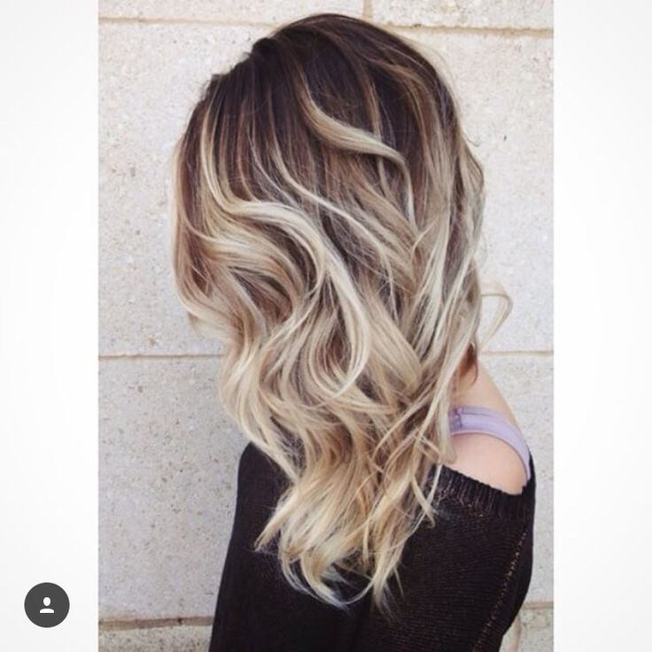 Brown Roots With Blonde Hair Color Pinterest