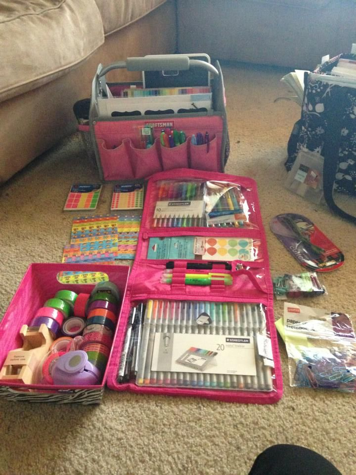 Timeless Beauty Bag from Thirty-One gifts used for art supply
