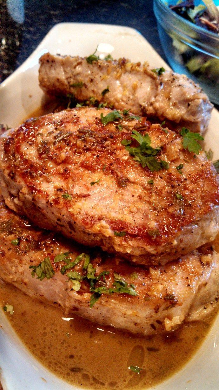 Sexy Pork Chops – Sauted Pork Chops with Lemon-Garlic Sauce – FAN-TAS-TIC!! LPJ