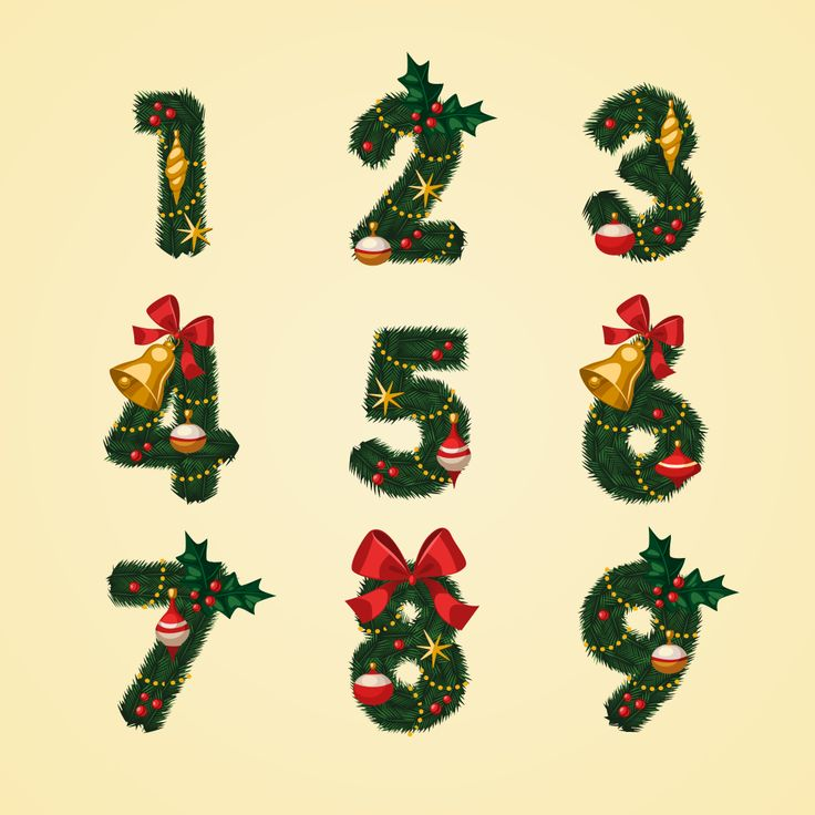 Download Christmas Themed Alphabets And Numbers