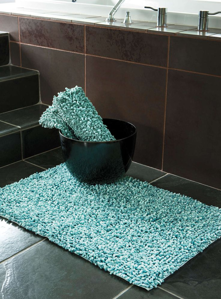 Turquoise Frosted Jumbo Boucl Bath Mat 50 X 80 Cm Bath Rugs Simons Home Body Pinterest