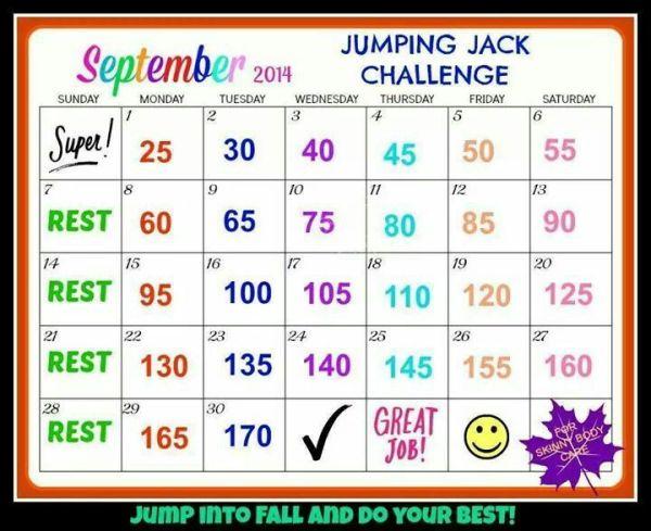Jumping jack challenge fitness Pinterest Challenges