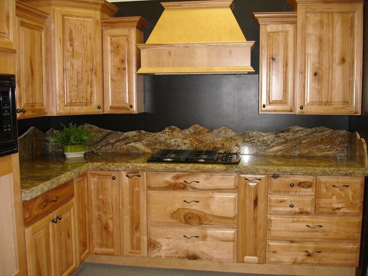Backsplash Mountain Silhouette Granite Counter Tops And Wellborn Cabinets Kitchen Remodel