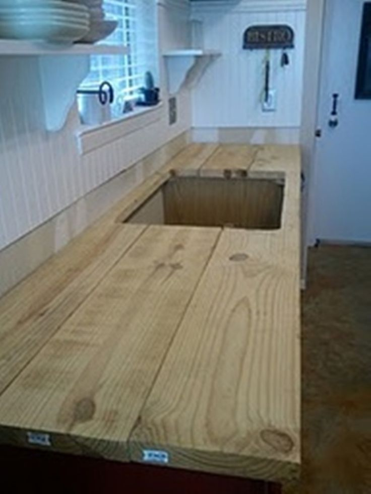 Build Your Own Rustic Countertop For The Home Pinterest Countertops Tutorials And Rustic