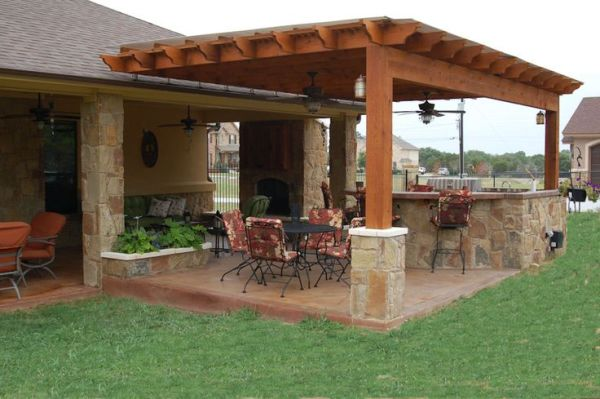 outdoor kitchen covered patio designs outdoor pergolas covered | Outdoor Kitchen, Weatherproof