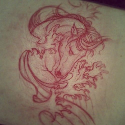 I dont want a horse tattoo but the design is brilliant.