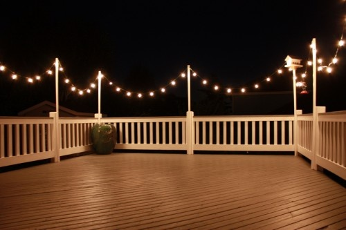 pin by aina wahl on verandarekkverk pinterest lakes on awesome deck patio outdoor lighting ideas that lighten up your space id=17527
