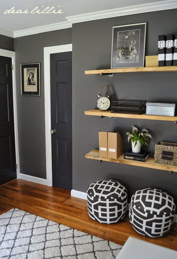 great colors and shelving for a guy s room benjamin moore on good wall colors for office id=65797