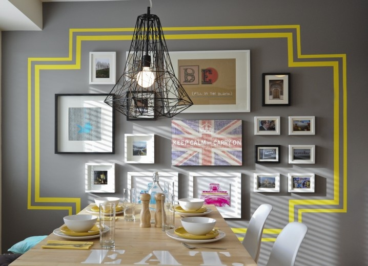 Paint A Border (or Use Vinyl Decals) Around Cluster Of