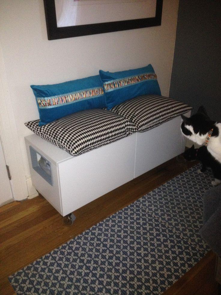 1000 Images About Ikea Hack Besta Bench Hidden Litter