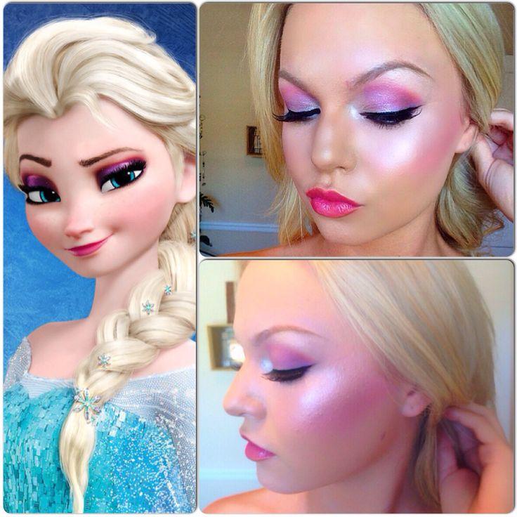 Elsa Makeup Look Fancy Dress Pinterest Elsa Elsa