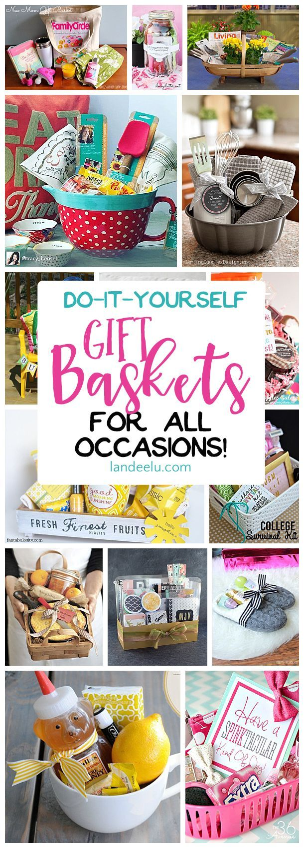 Put together a gift basket for any occasion and make someones day! Easy do it