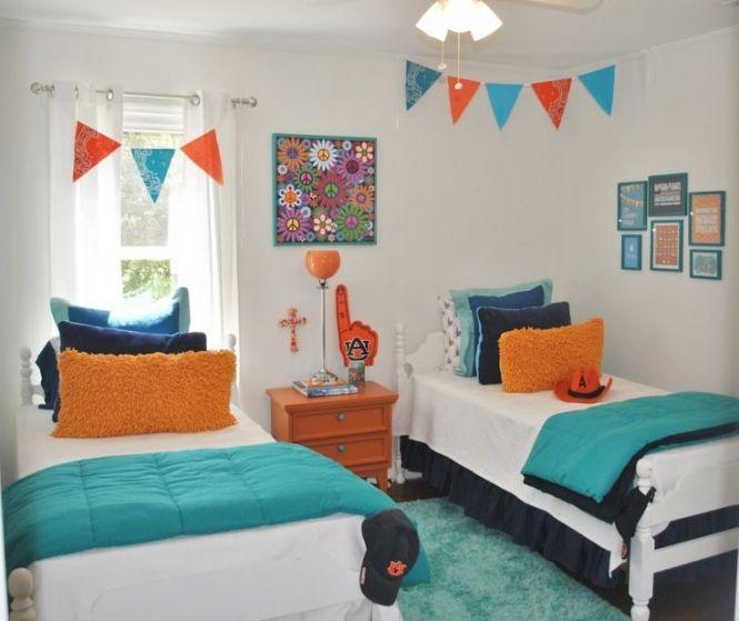 Shared Kids Bedroom Inspiration Cool Blue Ideas Interior Designer Twin Decorating
