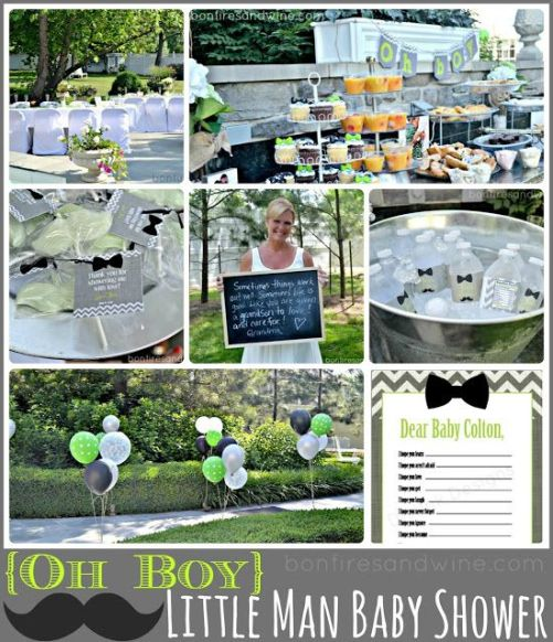 Oh BOY! Little Man Baby Shower