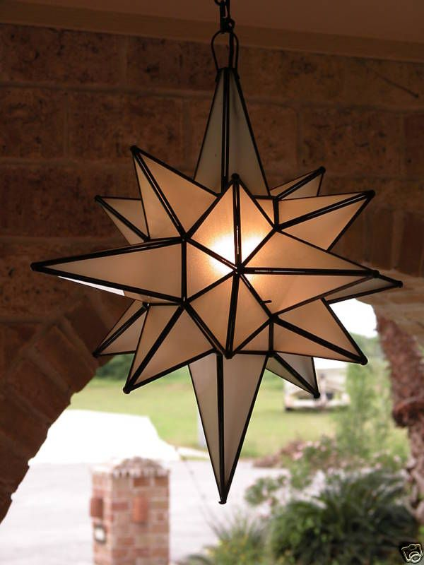 Moravian 24 Frosted Glass Star Light Lamp Outdoor