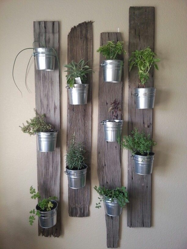 Creative Indoor Vertical Wall Gardens • Lots of Great Ideas and Tutorials! Including, this idea of small