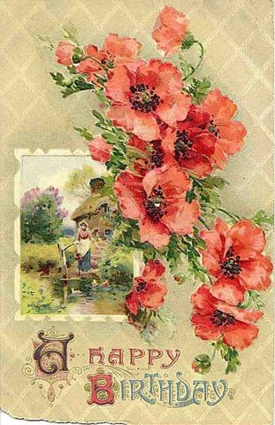 1000 Ideas About Vintage Birthday Cards On Pinterest