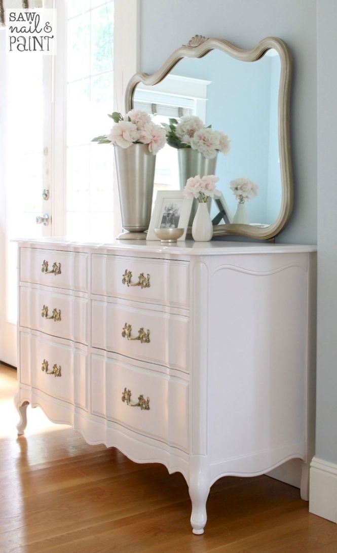Silky Smooth French Provincial Dresser With Mirror 2 Furniture Makeover Bedroom