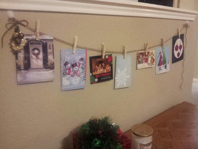 Cute Way To Hang Up Christmas Cards From Your Friends And