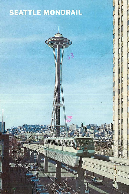 Space Needle and monorail, 1978   Vintage Seattle ...