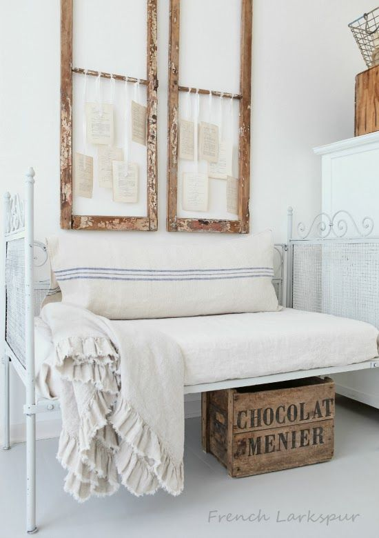 French Larkspur - love the use of the frames with ephemera...<3 - love the side by side windows