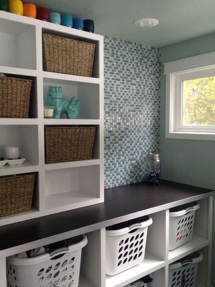 22 best images about Laundry/Mudroom ideas on Pinterest on Laundry Room Shelves Ideas  id=52228
