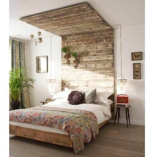 34 DIY Ideas: Best Use of Cheap Pallet Bed Frame Wood ... on Cheap Bedroom Ideas  id=40354