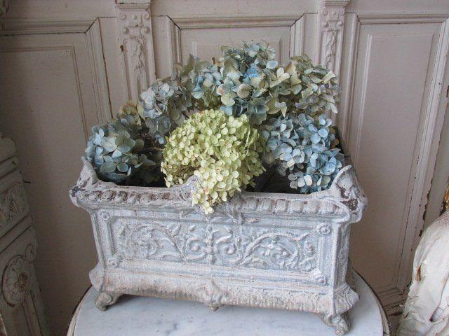 OMG Old Vintage CAST IRON FRENCH Garden URN PLANTER Ornate Footed RECTANGLE Shabbytownusa Ebay