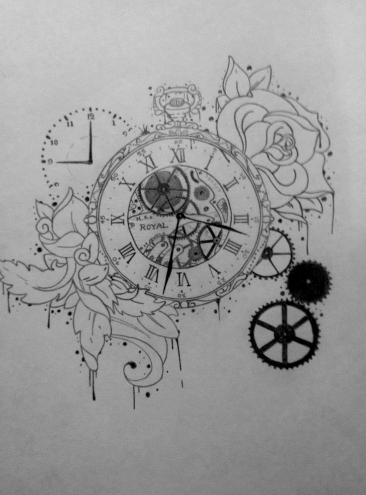 25 Best Ideas About Time Clock Tattoo On Pinterest