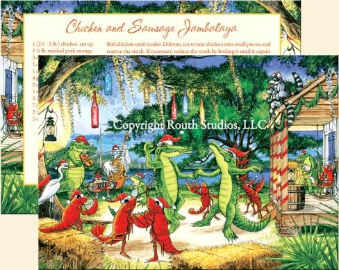 Louisiana Christmas Cards Cajun Christmas Cards