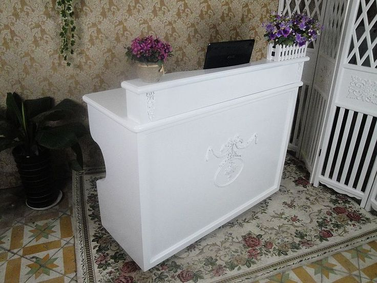 Reception Work Station Embossed Cashier Bar Counter Front