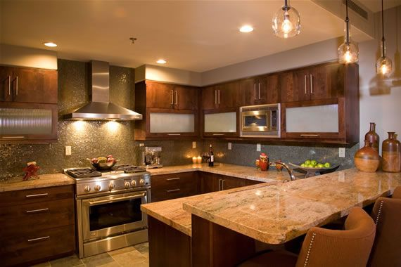 warm kitchen w earth tones love the simple pendant on beautiful kitchen pictures ideas houzz id=46706