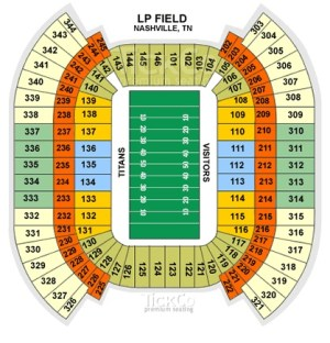 LP Field Seating Chart (via TickCo) | Our Venues