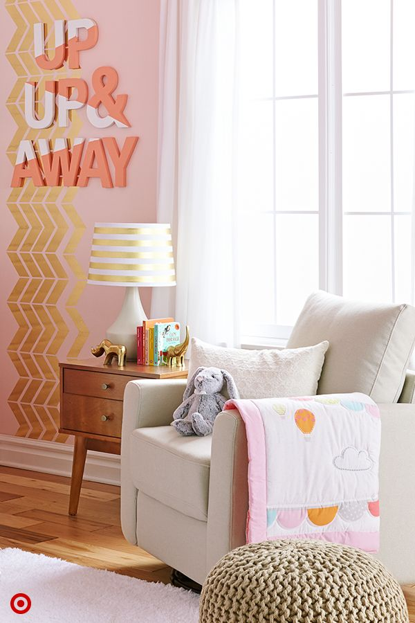 Bring your baby's nursery to life with a few easy touches. Start by adding an accent wall for a focal po