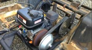 These guys replaced their blown golf cart motor with a cheap Harbor Freight 65hp and it works