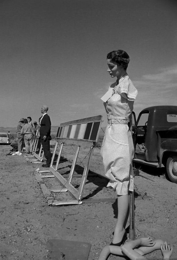 A-bomb test site | Nevada, 1955 | wartime | mannequins ...